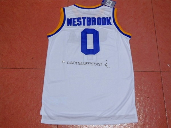 NBA Store Comprare Maglia NCAA UCLA NO.0 Russell Westbrook Bianco ... fe7a60f9e4bb