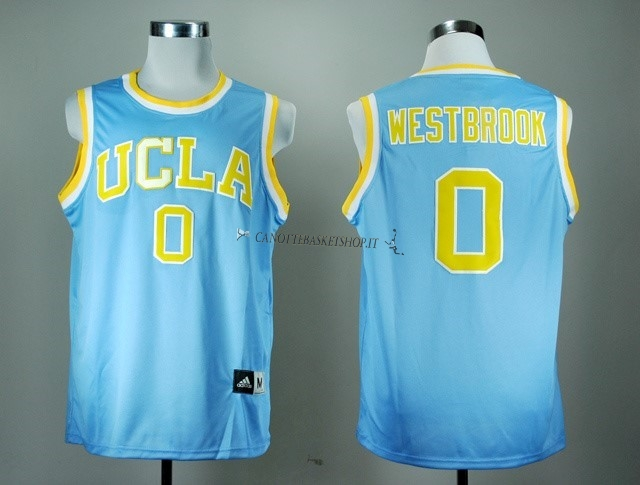 Comprare Maglia NCAA UCLA NO.0 Russell Westbrook Blu