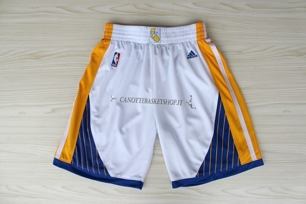 Comprare Pantaloni Basket Golden State Warriors Bianco