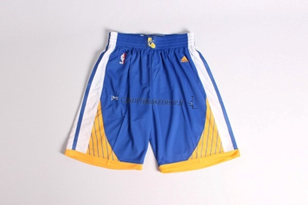 Comprare Pantaloni Basket Golden State Warriors Blu