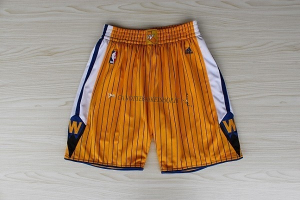 Comprare Pantaloni Basket Golden State Warriors Giallo