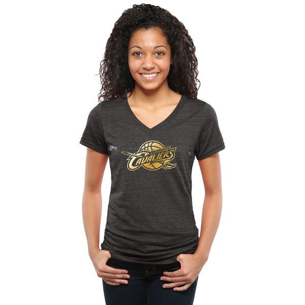 Comprare T-Shirt Donna Cleveland Cavaliers Nero Oro