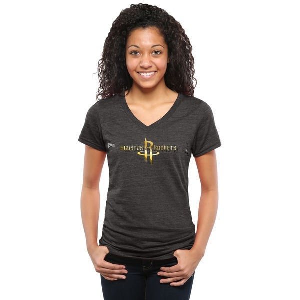 Comprare T-Shirt Donna Houston Rockets Nero Oro