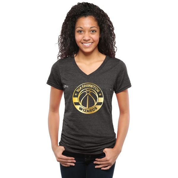 Comprare T-Shirt Donna Washington Wizards Nero Oro